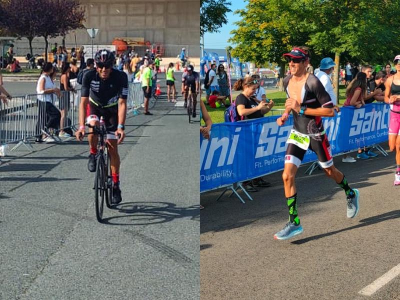 Xavi Ortin (Montbike) a l'Ironman de Vitòria 2021