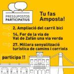 propostes Montbike als pressupostos participatius Amposta 2020